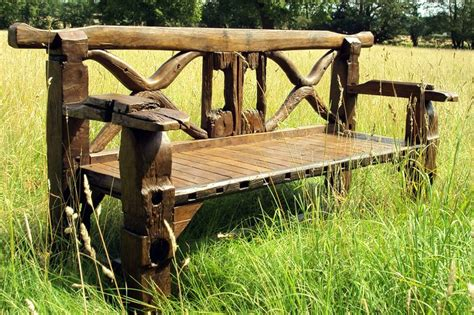 chunky garden bench teak ox cart chunky garden bench driftwood decor pinterest