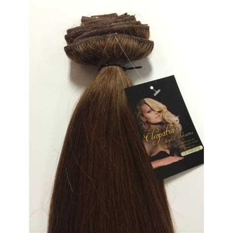 cleopatra hair extensions medium brown 20 inch ultimate thick clip in human hair