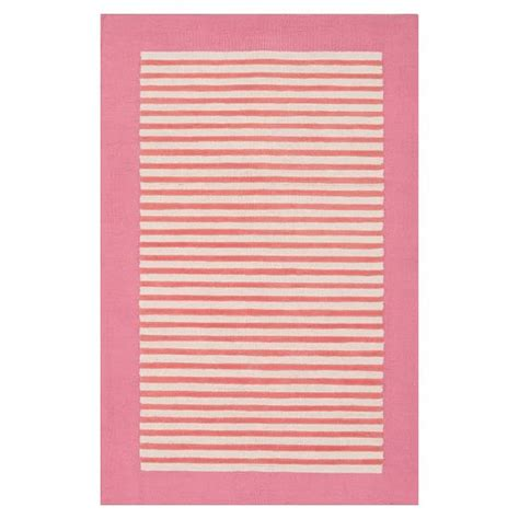pottery barn coral rug lakeshore stripe rug pink coral pbteen