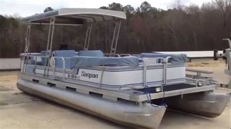 used fishing pontoon boats for sale used san pan pontoon for sale on lake wateree south