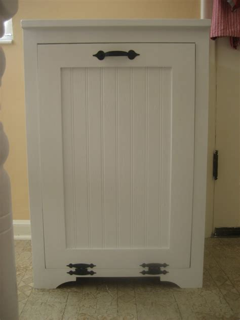 Tilt Out Trash Cabinet by Hide Your Trash Bin By Building A Tilt Out Trash Cabinet