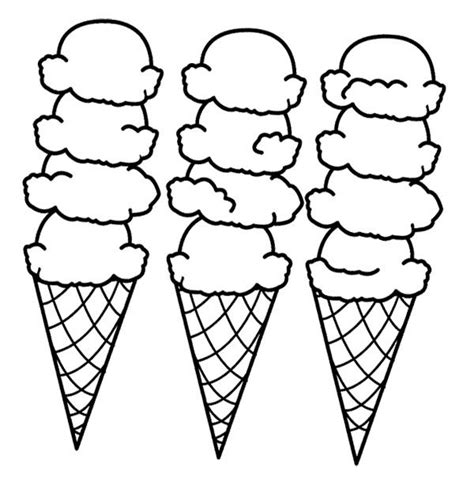 big ice cream cones coloring page ideias engra 231 adas para
