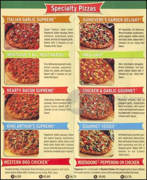 Round Table Pizza 1503 N Point St San Francisco Order Table Pizza Menu Prices