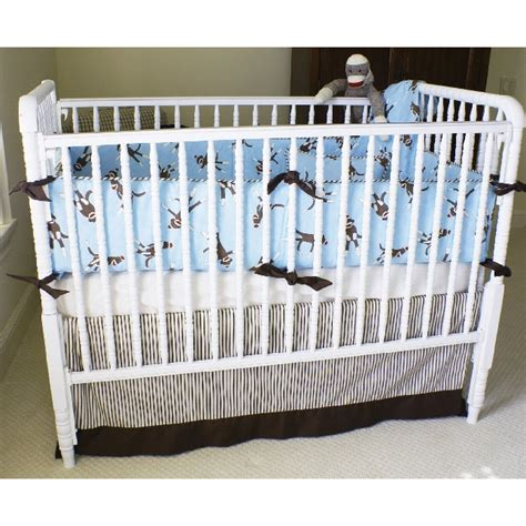 Sock Monkey Crib Bedding Sock Monkey Crib Bedding In Blue By Maddie Boo