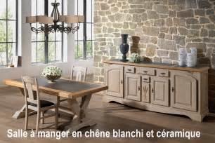 salle 224 manger rustique en bois blanchi avec c 233 ramique