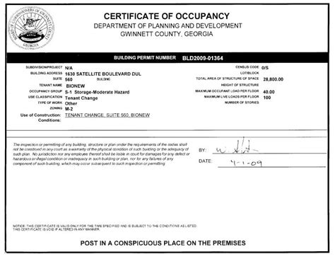 certificate of occupancy template certificate of occupancy template certificate of