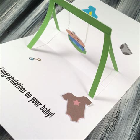 Swing Pop Baby Swing Pop Up Greeting Card New Baby Card Congrats