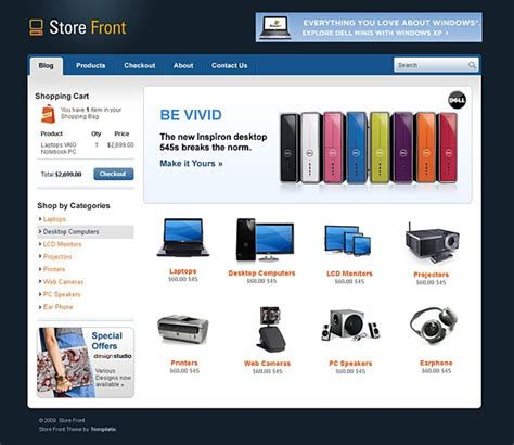 store wordpress theme for sales cms store website