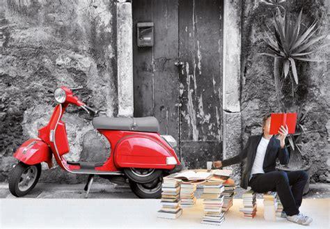 vespa wallpaper for walls red scooter photo wallpaper wall art com