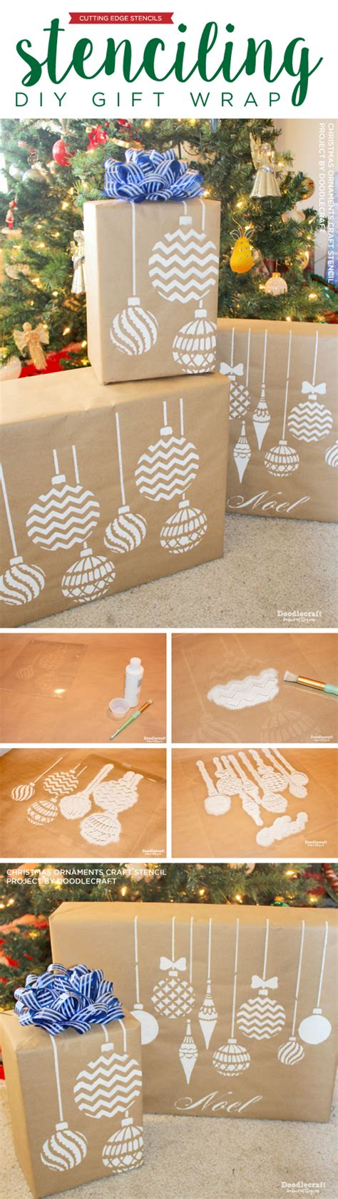 Paper Stencils Crafts - stenciling diy gift wrap 171 stencil stories