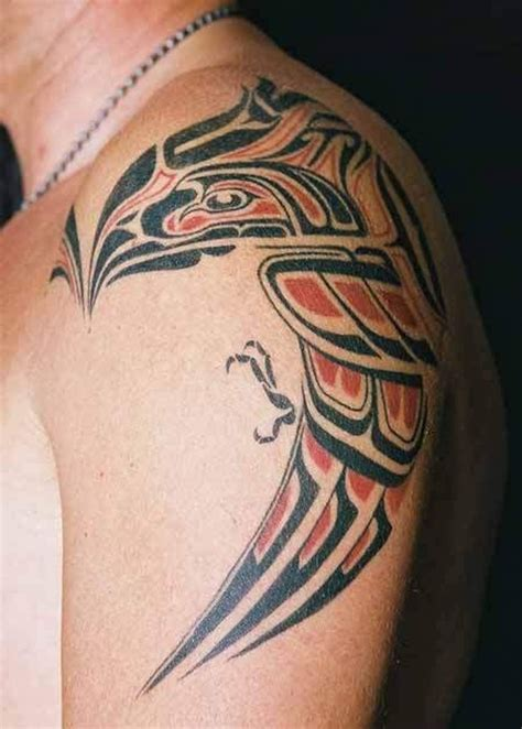 tribal tattoos red and black 73 wonderful eagle shoulder tattoos