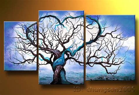 3 Piece Living Room Set Cheap Canvas Wall Art Sets 3 Piece Framed Wall Art Artwork For Cheap | framed tree painting on decorative canvas for living
