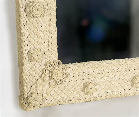 Macrame Rope For Sale - vintage sailor s style macrame rope mirror for sale at
