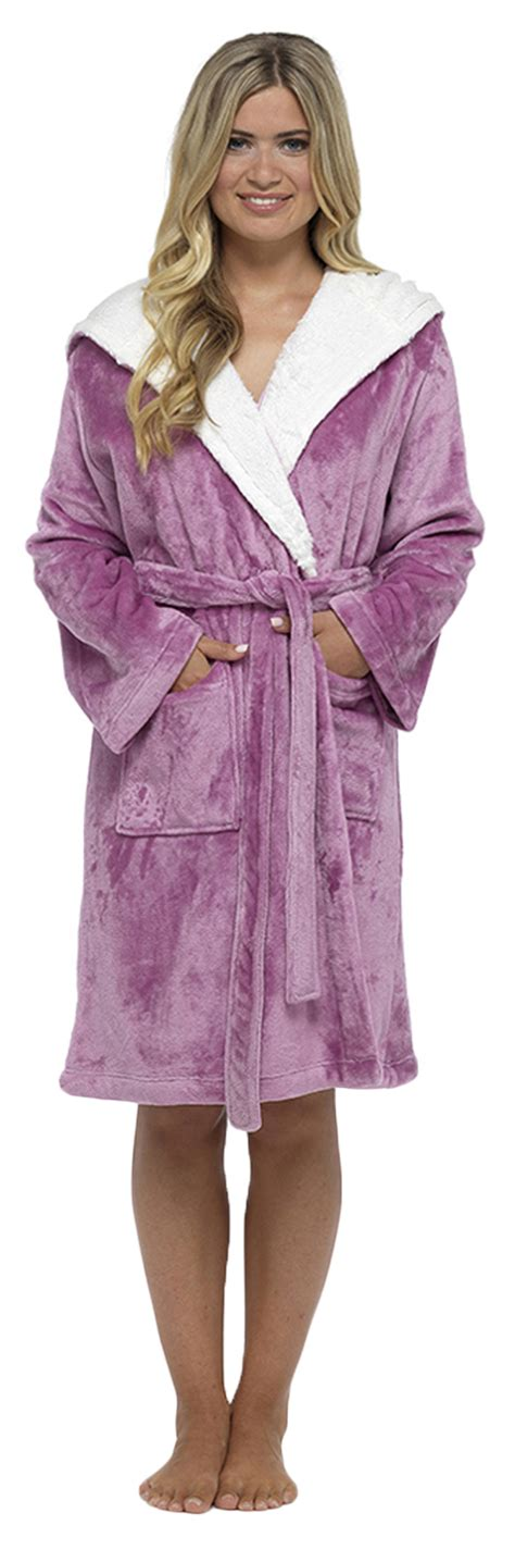 slippers and robe uk womens hooded dressing gown bath robe housecoat