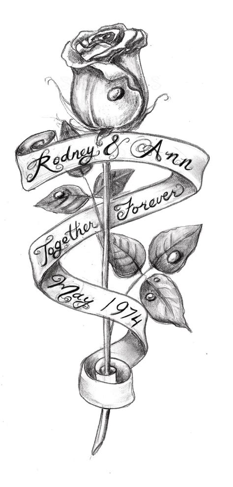 rose and banner tattoo collection of 25 and banner tattoos sketch