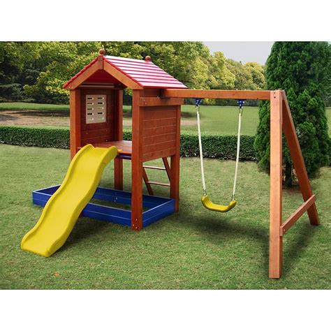 small swing sets for small backyard sportspower wp 248 sand n swing swing set sears outlet