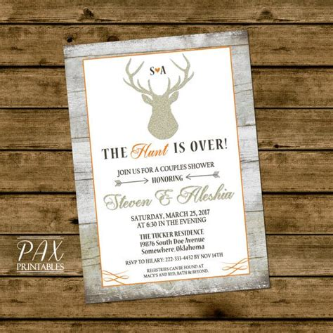 The Hunt Is Wedding Invitations