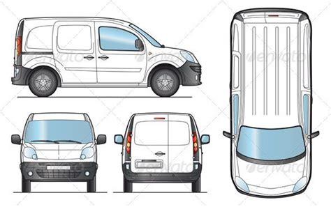 van layout vector delivery van template trucks colors and vehicles