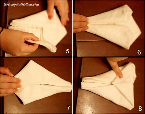 How To Do Napkin Origami - bunny napkin fold easter napkin fold