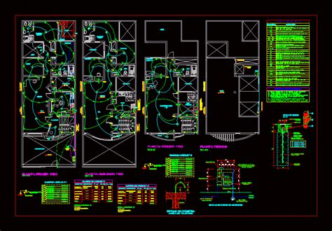 electrical installation house room dwg detail for autocad