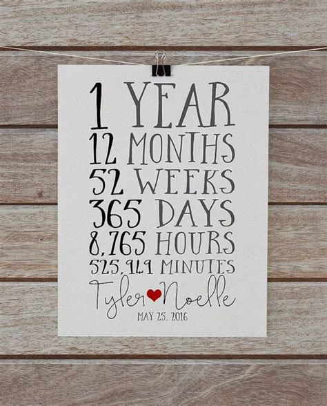 1 year anniversary gifts for best 25 1 year anniversary gifts ideas on one