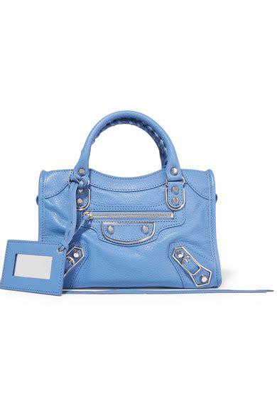 Jual Tas Balenciaga Mini City Metalic Edge Light Blue Ghw balenciaga city metallic edge mini textured leather tote net a porter
