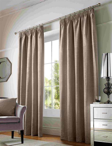 curtain pairs chenille lined tape top curtains plain pencil pleat