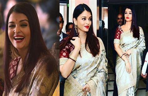 aishwarya rai sari aishwarya rai bachchan s pics in saree will leave you