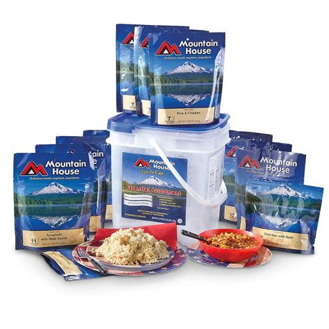 mountain house meals mountain house essential long term food bucket 234721 survival food mre at