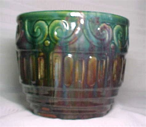Mccoy Pottery Planters Prices by Mccoy Pottery Blended Rainbow Scroll Jardiniere