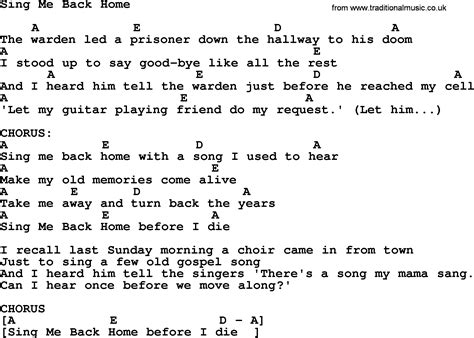 sing me back home by merle haggard lyrics and chords