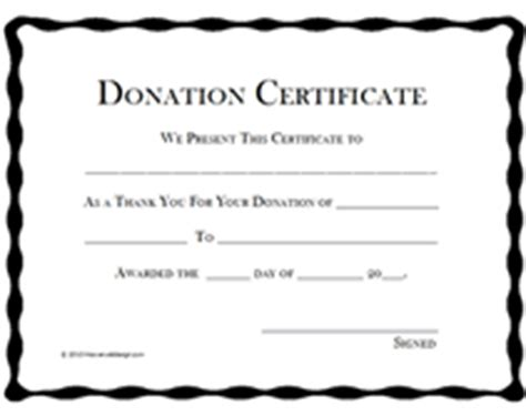 Certificate Giving Letter Printable Donation Certificates Templates