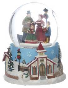 large carolers snow globe christmas gift