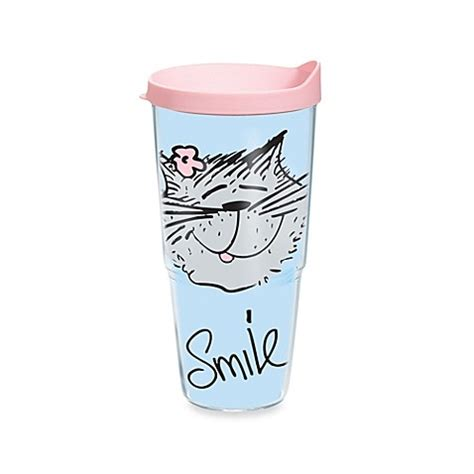 buy tervis 174 24 ounce cat smile tumbler from bed bath beyond