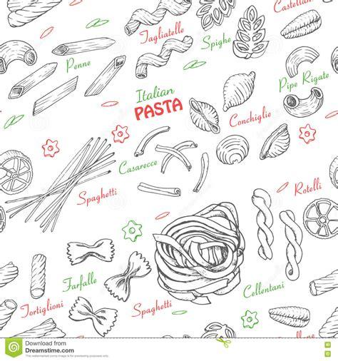 vector italian pasta pattern stock illustration seamless pattern with italian pasta stock vector image