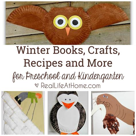 crafts and more winter books crafts recipes and more for preschool and
