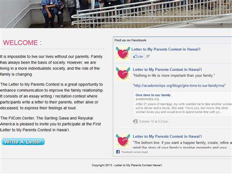 Letter Closing In Hawaiian Letter To My Parents Contest Launched In Hawaii Inquirer Net