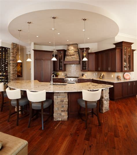 curved kitchen island 18 curved kitchen island designs ideas design trends