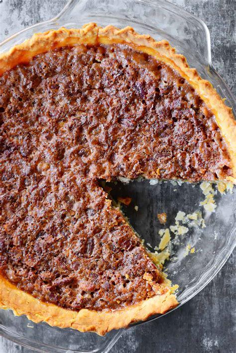 easy pecan pie  corn syrup  gunny sack