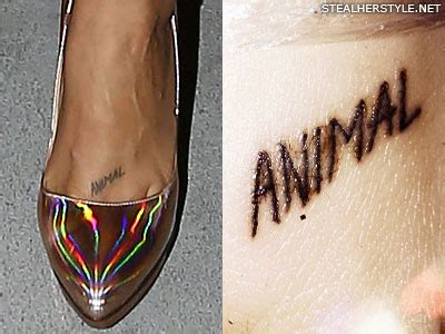 animal word tattoo kesha s tattoos meanings steal her style