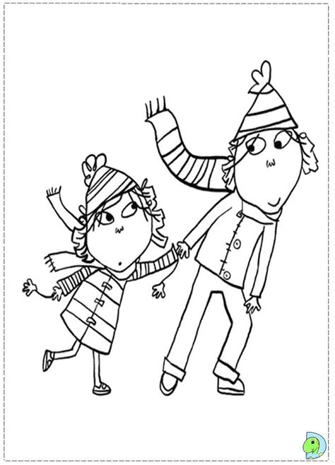 charlie and lola coloring page dinokids org