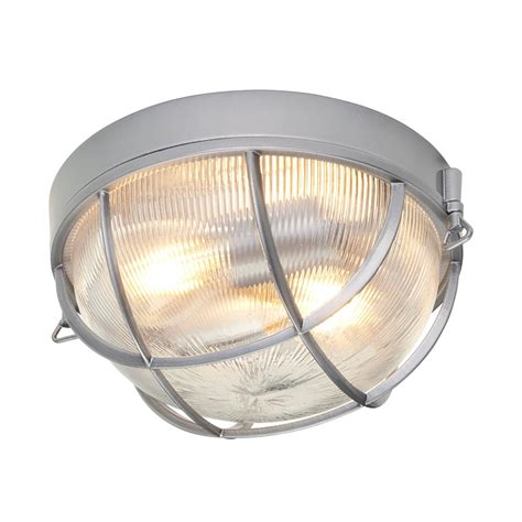 Outdoor Light Fittings Uk Elstead Lighting Marina 2 Light Outdoor Flush Ceiling Fitting In Hematite Finish With Ribbed
