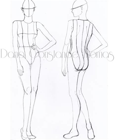 fashion templates front and back fashion illustration templates front and back view