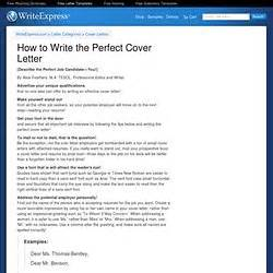 cover letter job search pearltrees