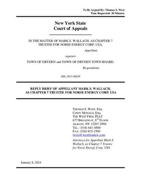 appellate brief template ny town ban court norse trustee appellate reply brief