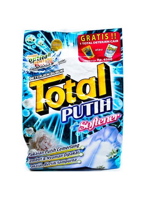 Daia Detergent Softener Bag 1 8kg total detergent powder putih softenr bag 1 2kg klikindomaret
