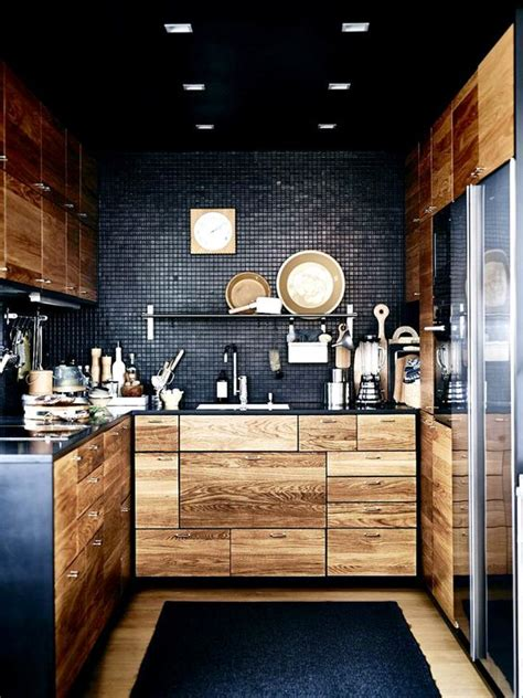 Black Kitchen Lights 27 Moody Kitchen D 233 Cor Ideas Digsdigs