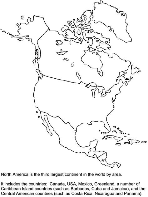 coloring page for north america printable northamerica countries coloring pages