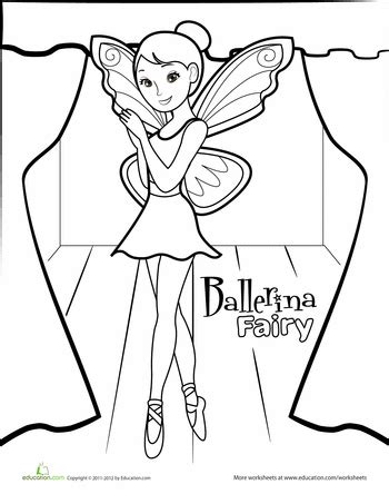 fairy ballerina coloring pages ballerina fairy coloring page worksheets ballerina and