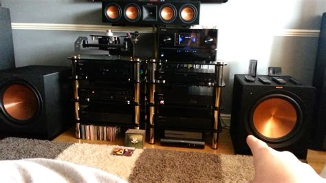 Home Theater G8 klipsch reference speakers r 28f rp 450c rp 250s r